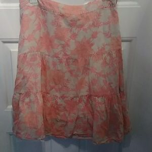 Forever 21 Floral 3 Tiered Skirt Size Medium